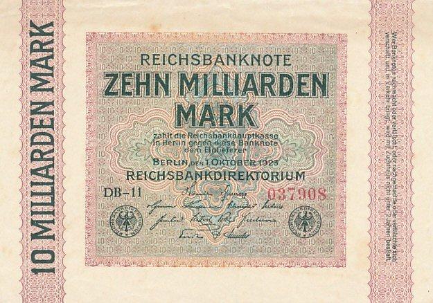 10 Billion Mark bill from1923