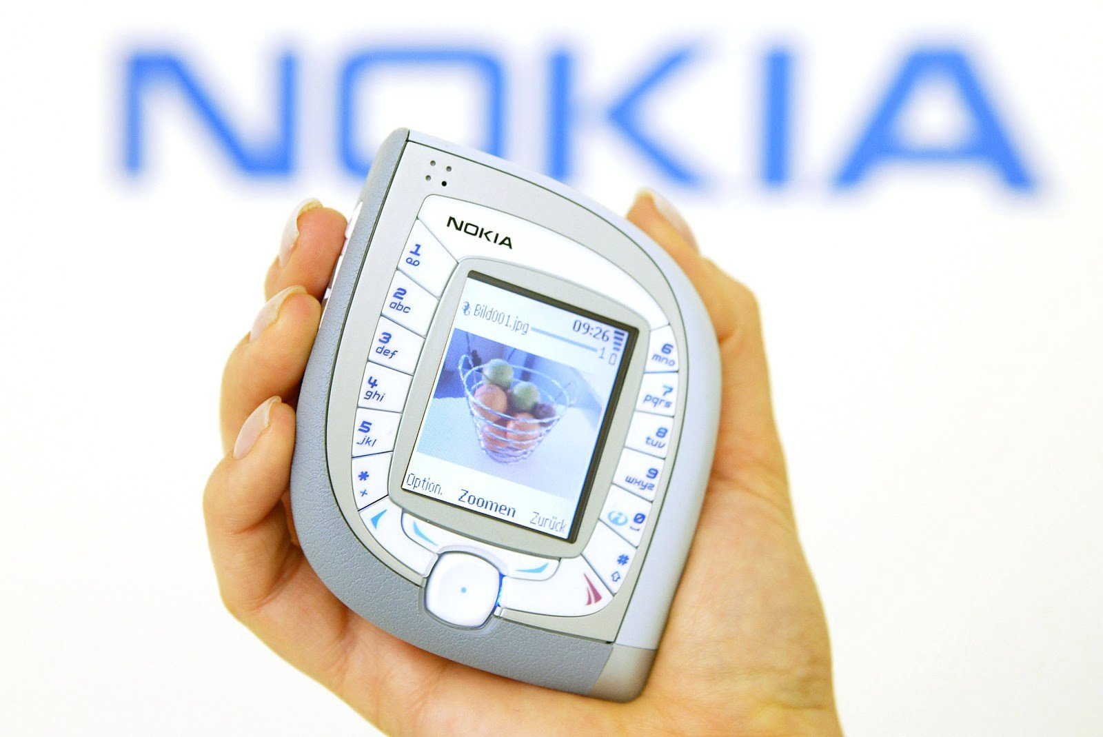 In 2004, Nokia unveiled the 7600, an unconventionally shaped device with interchangeable faceplates marketed to fashion-focused consumers. You wouldn't see something like this today. Photo: Sean Gallup/Getty