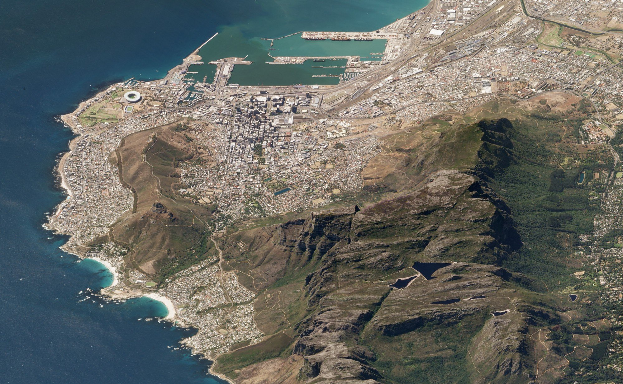 Table Mountain, Cape Town, South Africa. March 19, 2018. Image ©2018 Planet Labs, Inc. cc-by-sa4.0.