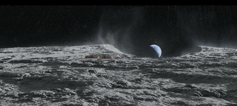 Destroying the Moon would result in approximately 7 x 1⁰²² kilograms of debris, which hopefully wouldn't hit Earth in large chunks. Image credit: Blind Spot Pictures Oy, 27 Films Production, New Holland Pictures, from the movie IronSky.