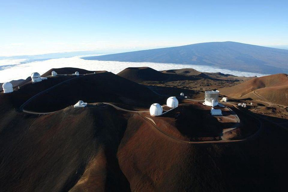 The summit of Mauna Kea contains many of the world's most advanced, powerful telescopes. This is due to a combination of Mauna Kea's equatorial location, high altitude, quality seeing, and the fact that it's generally, but not always, above the cloud line.