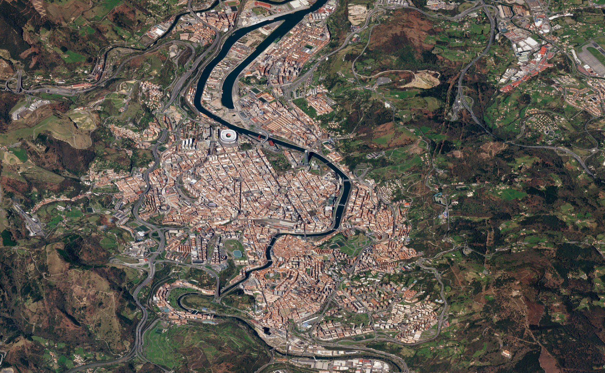 Bilbao, Spain. March 13, 2018. Image ©2018 Planet Labs, Inc. cc-by-sa4.0.