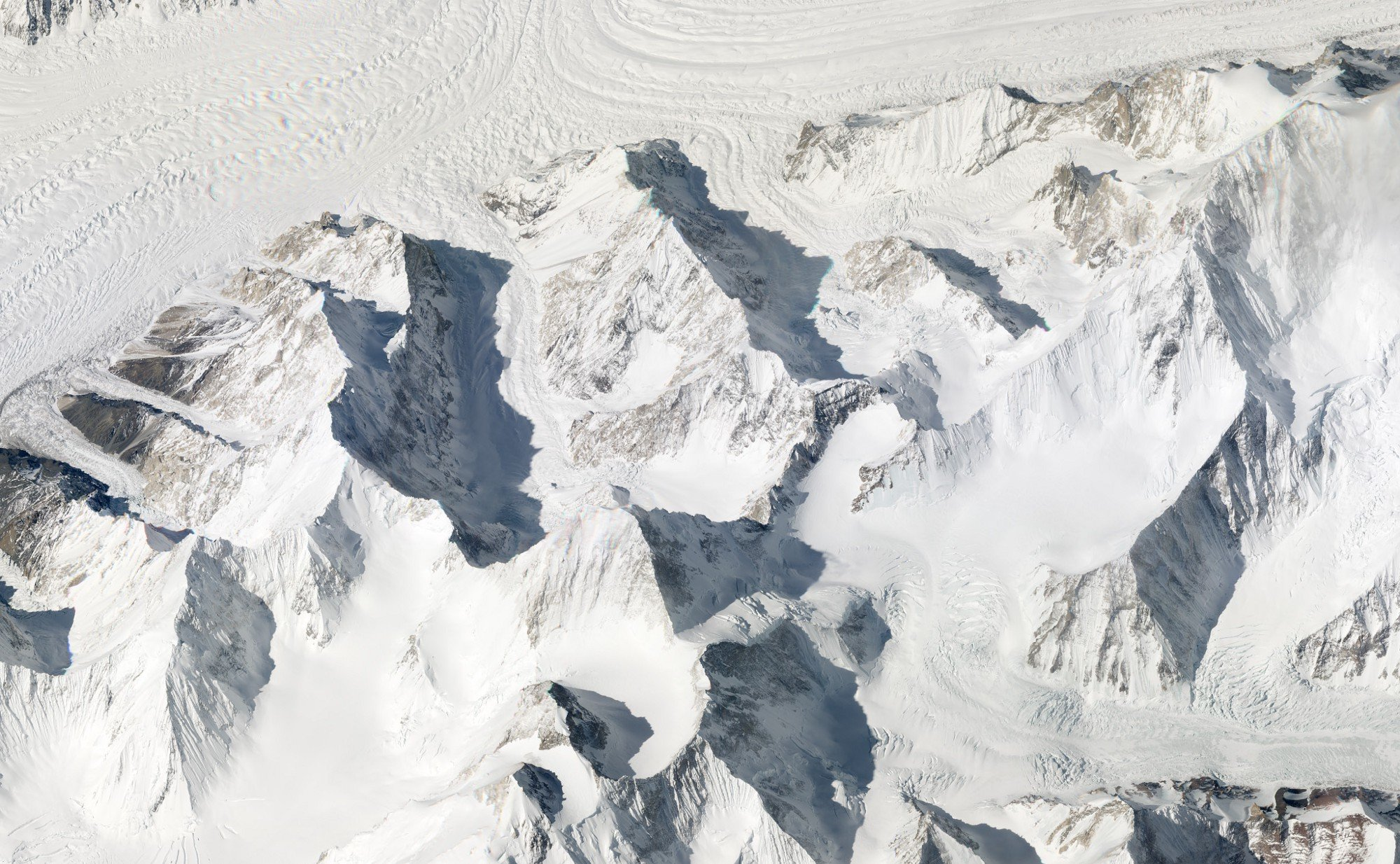 Gasherbrum Massif, Pakistan. March 11, 2018. Image ©2018 Planet Labs, Inc. cc-by-sa4.0.