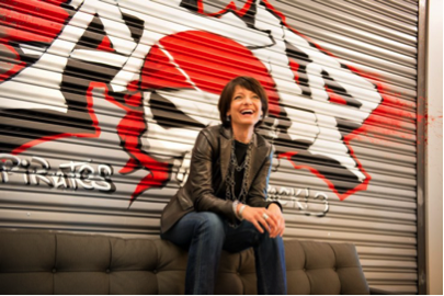 Regina Dugan, former head of DARPA and Highlands Forum co-chair, now a senior Google executive — trying her best to look the part