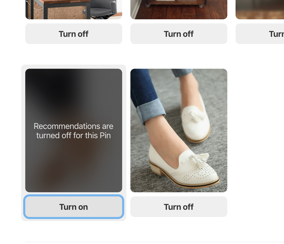 """Pinterest plans to announce a new feature titled """"Tune Your Home Feed"""" that lets you tell its algorithm which of your interests and behaviors you want used for future recommendations, and which ones you don't. Credit: Pinterest"""