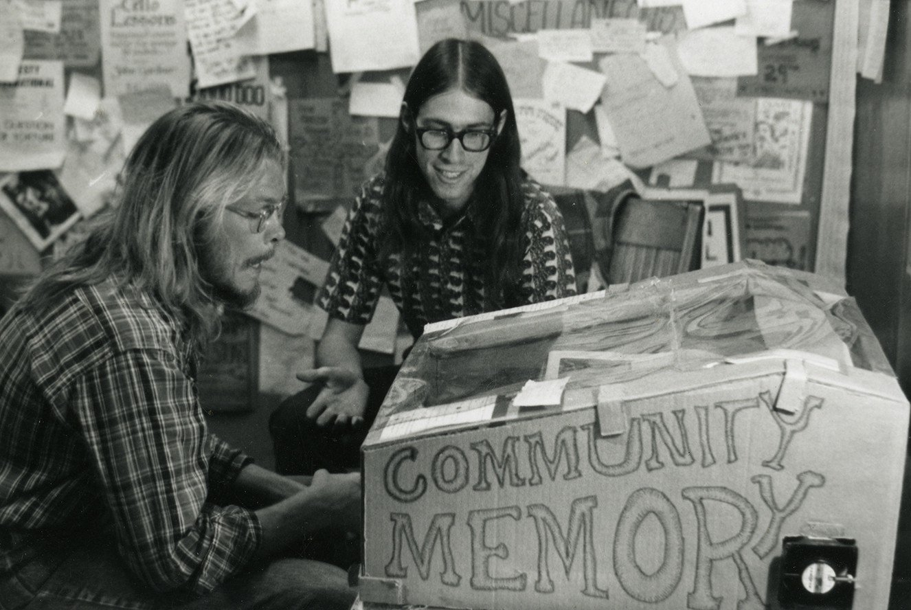 Community Memory put counterculture ideas into action by providing free access on a timeshared mainframe to local East Bay residents, creating one of the earliest online public forums in 1973. Credit: Collection of the Computer History Museum, 102703229.