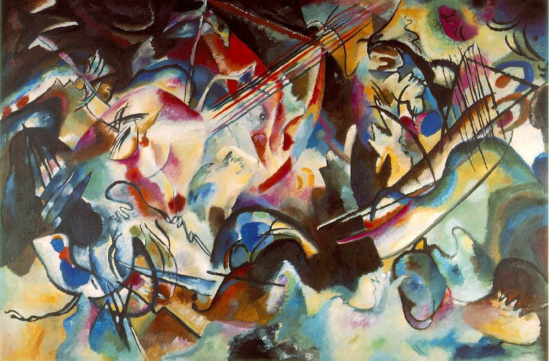 Wassily Kandinsky, Composition VI, 1913. In just a few years, Kandinsky's vision took him beyond recognisable things into a realm of abstraction. He transformed modern art as a result.