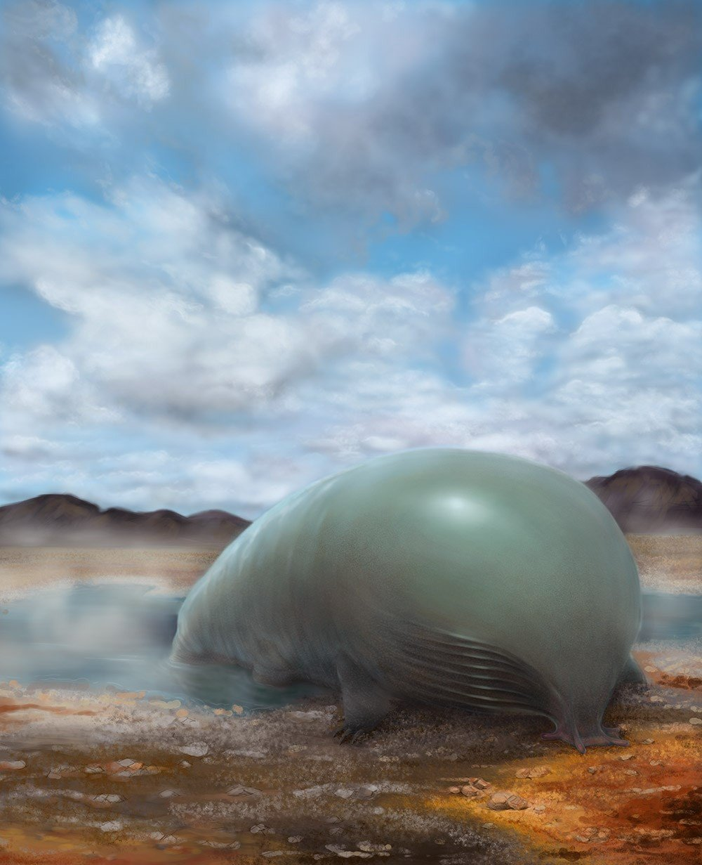 An artist rendering of a carbon and silicon based lifeform. Image by Lei Chen and Yan Liang/Caltech.
