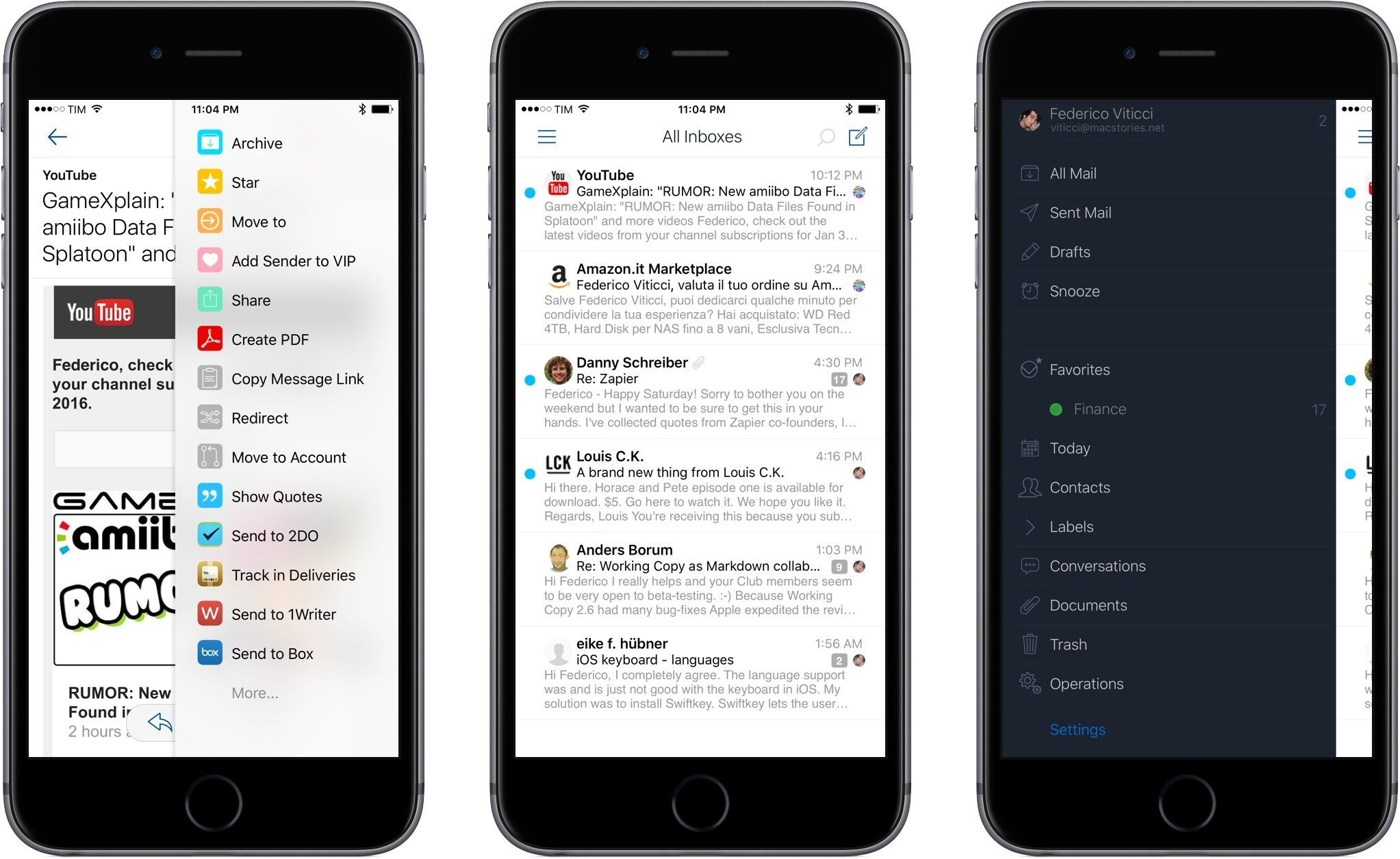Airmail for iPhone Review: Power User Email