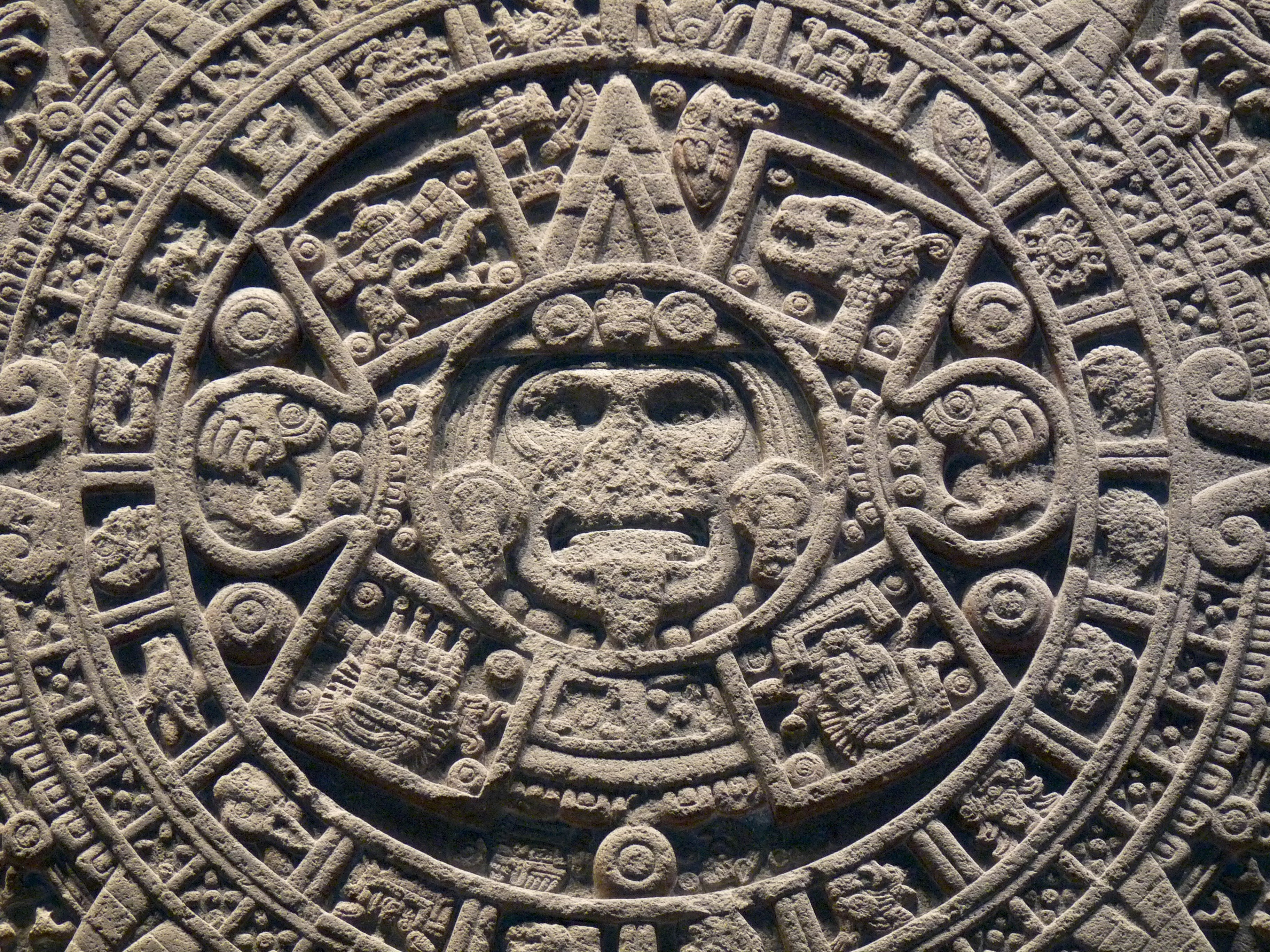 The Aztec sun stone, a massive sculpture made in the early 16th century, depicts how the world previously ended. Source: El Comandante