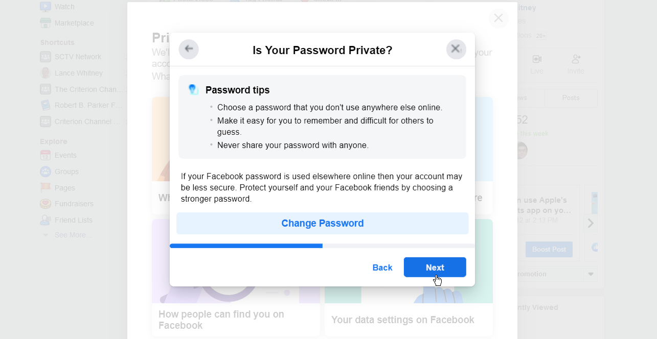 Change your password if you think it needs to be more secure