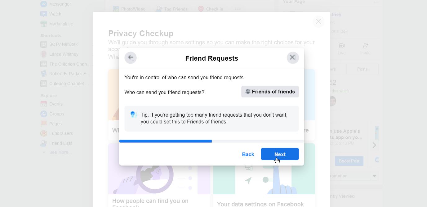 Set who can send you a friend request
