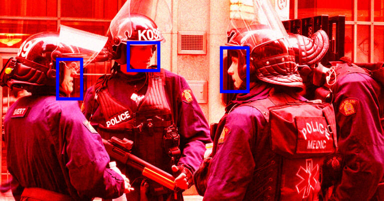 Activists Turn Facial Recognition Tools Against the Police